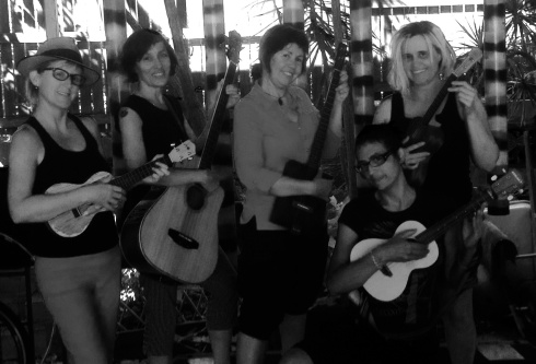 Me and the Kukey girls. You can hear us at backyard parties and special events.